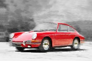 1964 Porsche 911 Watercolor by NaxArt