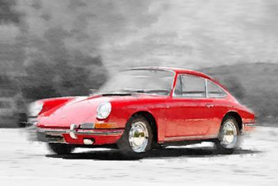 1964 Porsche 911 Watercolor by NaxArt