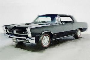 1966 Pontiac GTO Watercolor by NaxArt