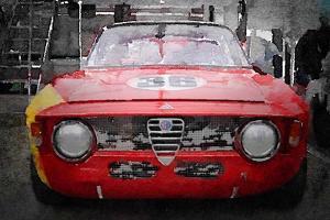 1967 Alfa Romeo GTV Watercolor by NaxArt