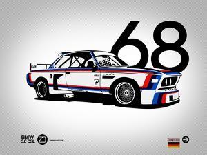 1968 BMW 3.0 CSL by NaxArt