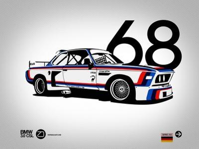 1968 BMW 3.0 CSL by NaxArt