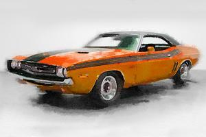 1968 Dodge Challenger Watercolor by NaxArt