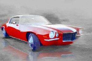 1970 Chevy Camaro Watercolor by NaxArt
