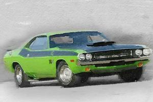1970-TA-Challenger Watercolor by NaxArt