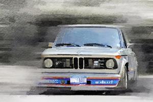 1974 BMW 2002 Turbo Watercolor by NaxArt