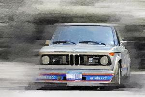 1974 BMW 2002 Turbo Watercolor by NaxArt