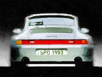 1993 Porsche 911 Rear Watercolor by NaxArt
