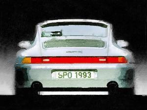 1993 Porsche 911 Rear Watercolor by NaxArt