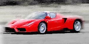 2002 Ferrari Enzo Watercolor by NaxArt