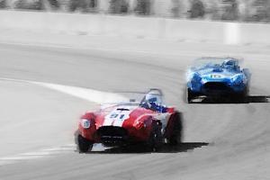 AC Cobra Racing Monterey Watercolor by NaxArt
