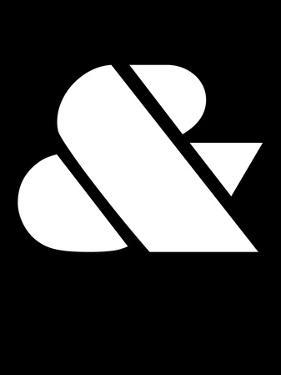 Ampersand Black and White by NaxArt