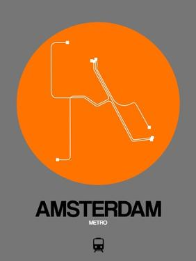 Amsterdam Orange Subway Map by NaxArt