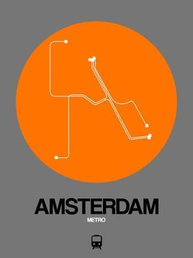 Amsterdam Orange Subway Map by NaxArt
