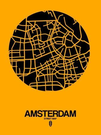 Amsterdam Street Map Yellow by NaxArt