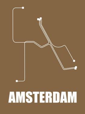 Amsterdam Subway Map II by NaxArt
