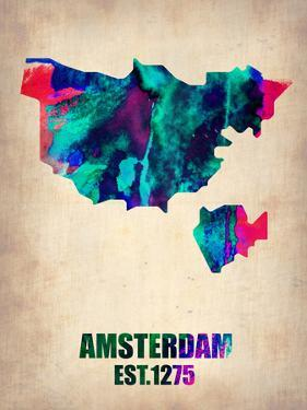 Amsterdam Watercolor Map by NaxArt