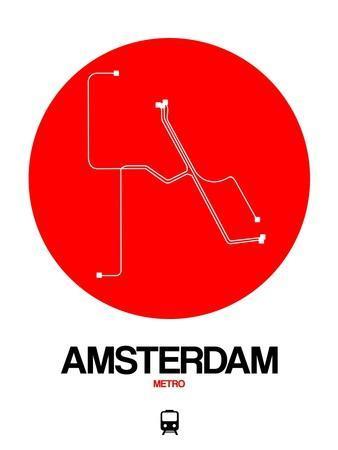 Amsterdam White Subway Map