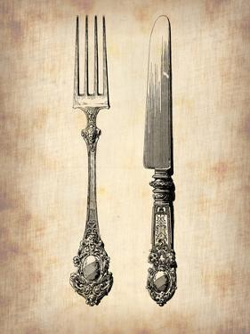 Antique Knife and Fork by NaxArt