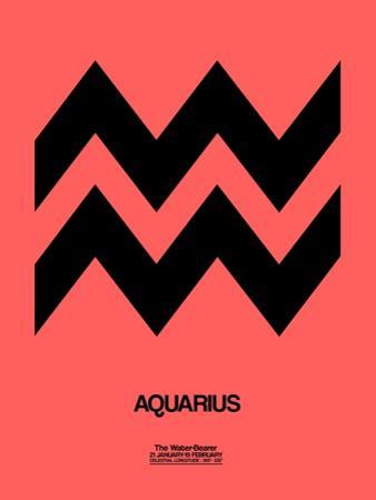 Aquarius Zodiac Sign Black by NaxArt
