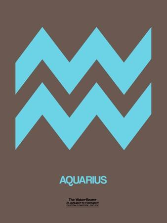 Aquarius Zodiac Sign Blue by NaxArt