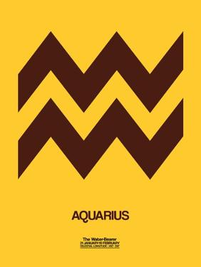 Aquarius Zodiac Sign Brown by NaxArt