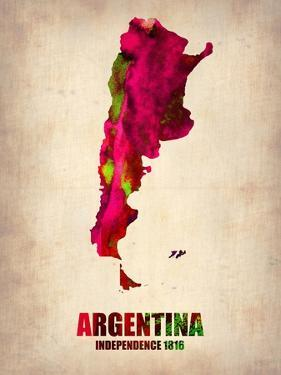 Argentina Watercolor Map by NaxArt