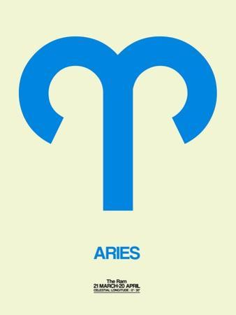 Aries Zodiac Sign Blue by NaxArt