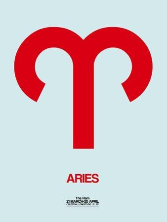Aries Zodiac Sign Red by NaxArt