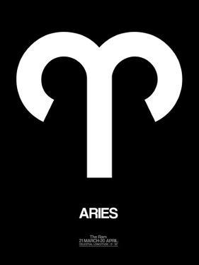 Aries Zodiac Sign White by NaxArt
