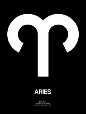 Aries Zodiac Sign White by NaxArt