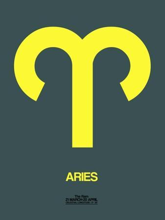 Aries Zodiac Sign Yellow by NaxArt