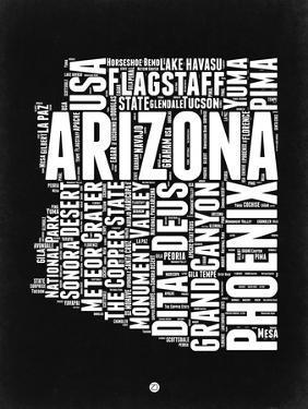Arizona Black and White Map by NaxArt