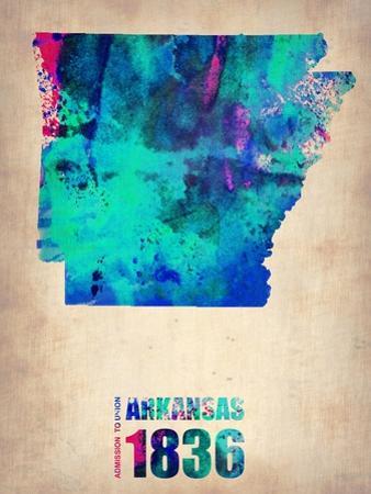 Arkansas Watercolor Map