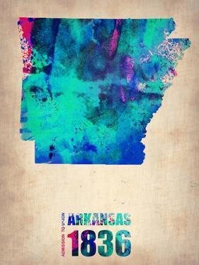 Arkansas Watercolor Map by NaxArt