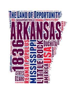 Arkansas Word Cloud Map by NaxArt