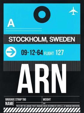 ARN Stockholm Luggage Tag I by NaxArt