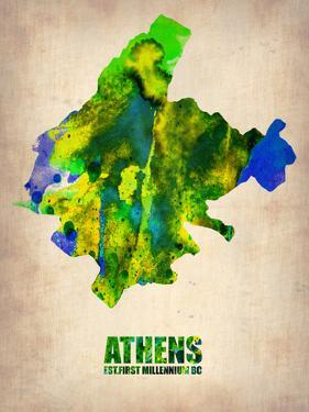 Athens Watercolor Poster by NaxArt