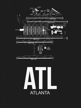 ATL Atlanta Airport Black by NaxArt