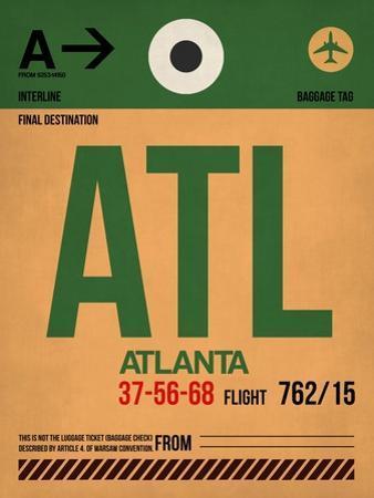 ATL Atlanta Luggage Tag 1 by NaxArt
