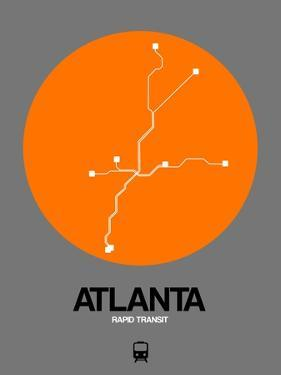 Atlanta Orange Subway Map by NaxArt