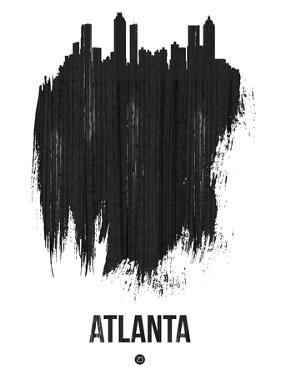 Atlanta Skyline Brush Stroke - Black by NaxArt