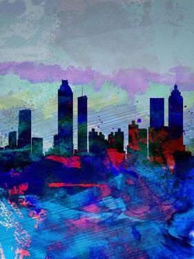 Atlanta Watercolor Skyline by NaxArt