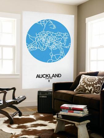 Auckland Street Map Blue by NaxArt