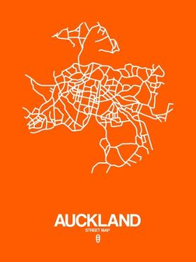 Auckland Street Map Orange by NaxArt