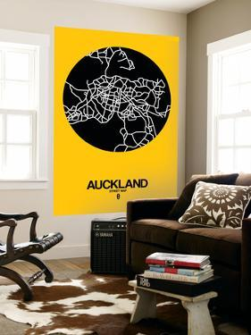 Auckland Street Map Yellow by NaxArt