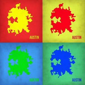 Austin Pop Art Map 1 by NaxArt
