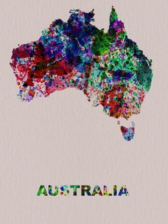 Australia Color Splatter Map by NaxArt