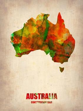 Australia Watercolor Map by NaxArt