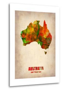 Australia Watercolor Map by NaxArt
